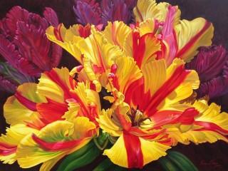 Собирать пазл Тюльпаны онлайн