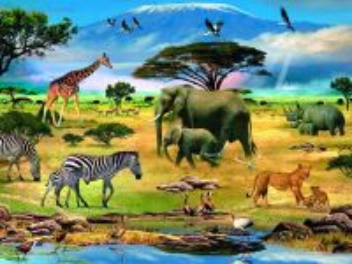 Собирать пазл У горы Килиманджаро онлайн