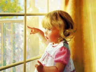 Собирать пазл У окна онлайн