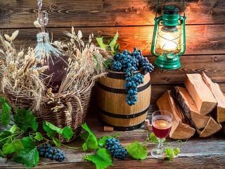 Собирать пазл У виноградаря онлайн