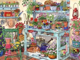 Собирать пазл Уголок садовника онлайн