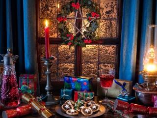 Собирать пазл Угощение к Рождеству онлайн