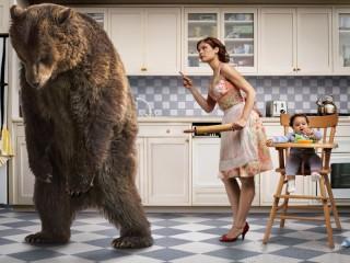 Собирать пазл Уходи медведь онлайн