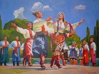 Собирать пазл Украинский танец онлайн