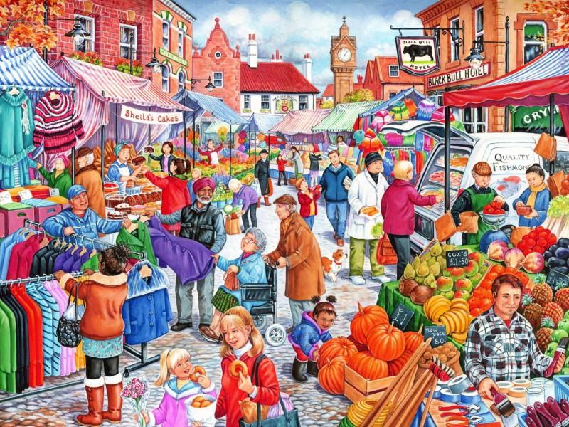 Пазл Собирать пазлы онлайн - Уличная торговля