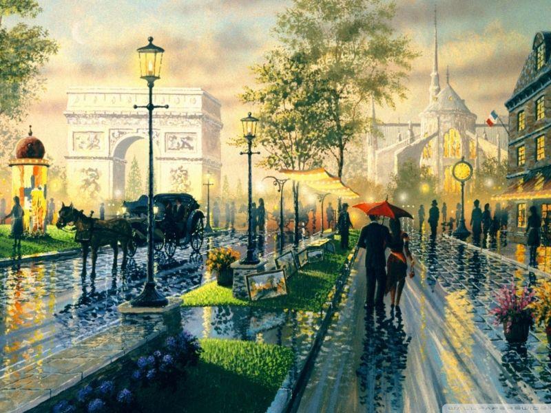 Пазл Собирать пазлы онлайн - Улица Парижа