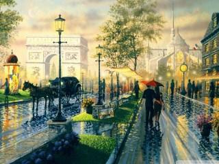 Собирать пазл Улица Парижа онлайн