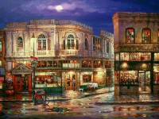 Собирать пазл Улица после дождя онлайн