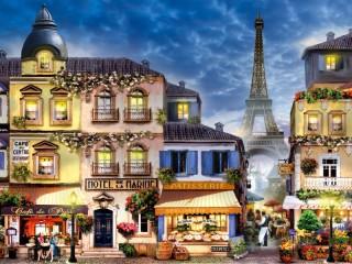 Собирать пазл Улица в Париже онлайн