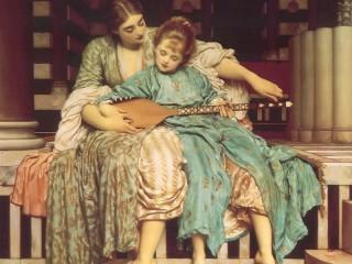 Собирать пазл Урок музыки онлайн