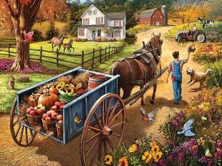 Собирать пазл Урожай онлайн