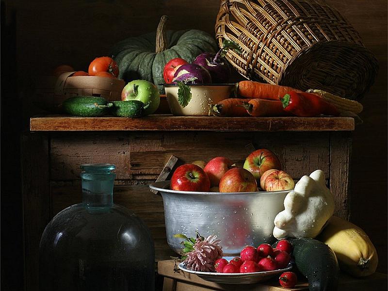 Пазл Собирать пазлы онлайн - Урожай с дачи