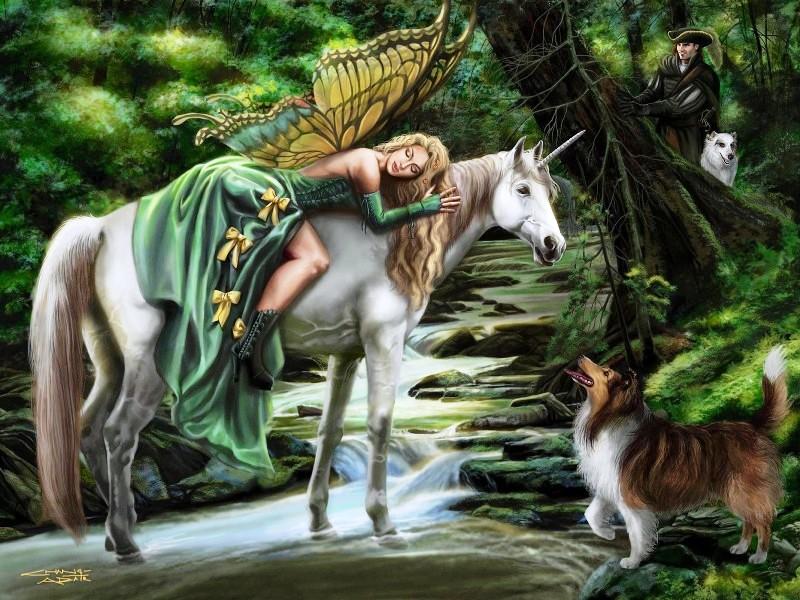 Пазл Собирать пазлы онлайн - Уснувшая фея