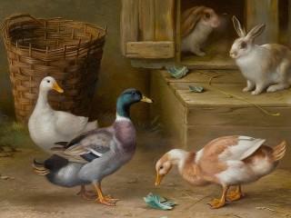 Собирать пазл Утки и кролики онлайн