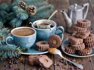 Собирать пазл Утро с кофе онлайн