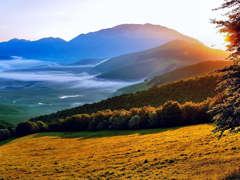 Пазл Собирать пазлы онлайн - Утро в долине