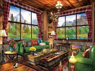 Собирать пазл Уютный уголок онлайн