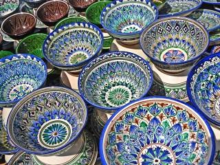 Собирать пазл Узбекская керамика онлайн