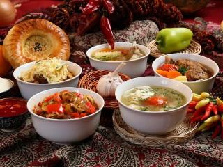 Собирать пазл Узбекская кухня онлайн