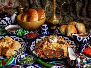 Собирать пазл Узбекский дастархан онлайн