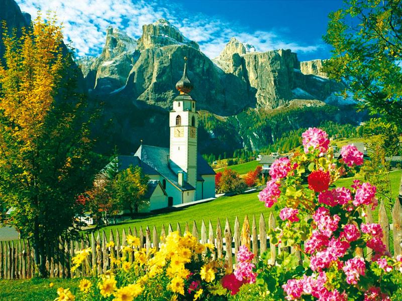 Пазл Собирать пазлы онлайн - В Альпах
