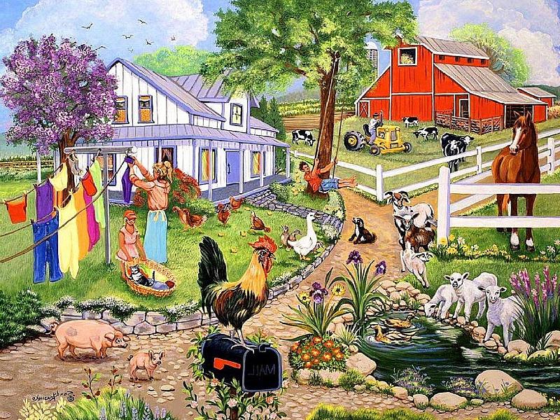 лет наоми картинки жизнь людей в деревне ферма была
