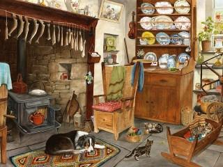 Собирать пазл В доме рыбака онлайн