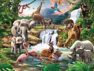 Собирать пазл В джунглях онлайн