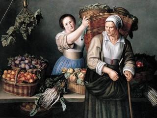 Собирать пазл В фруктовой лавке онлайн