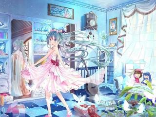 Собирать пазл В голубой комнате онлайн