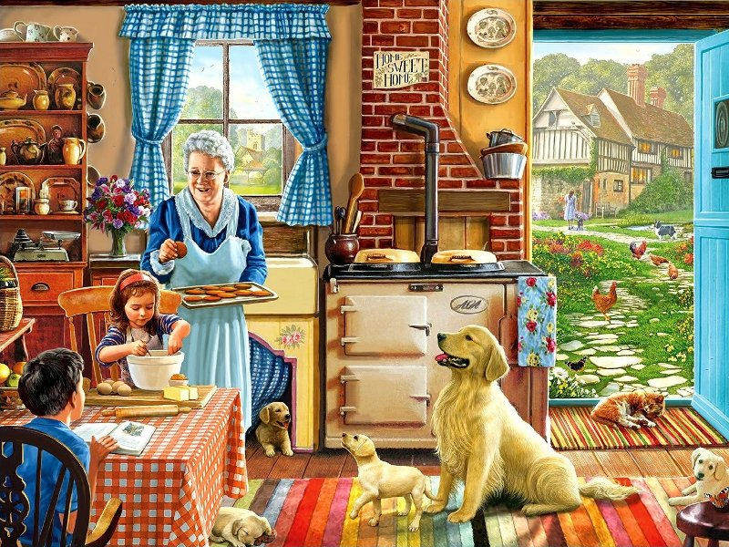 Пазл Собирать пазлы онлайн - В гостях у бабушки