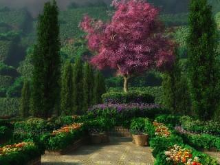 Собирать пазл В королевском саду онлайн