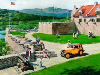 Собирать пазл В крепости-музее онлайн