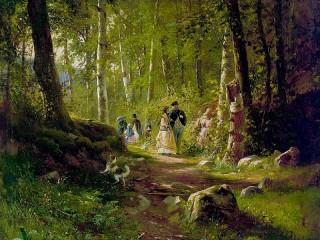 Собирать пазл Прогулка в лесу онлайн