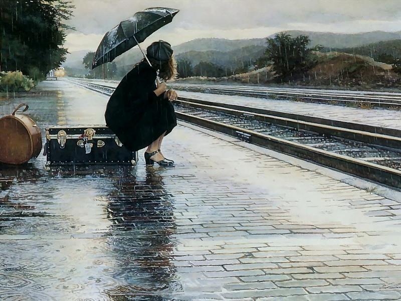 Пазл Собирать пазлы онлайн - В ожидании поезда