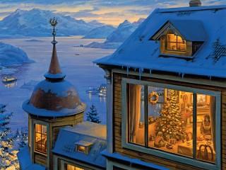 Собирать пазл В ожидании Рождества онлайн
