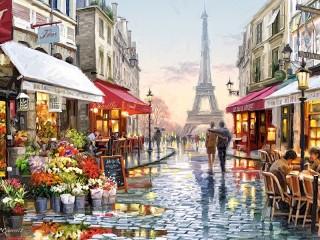 Собирать пазл В Париже онлайн