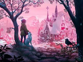 Собирать пазл В розовом тумане онлайн
