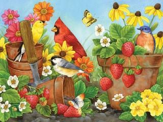 Собирать пазл В саду онлайн