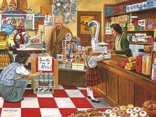 Собирать пазл В сельском магазине онлайн