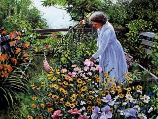 Собирать пазл В своём садике онлайн