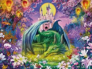 Собирать пазл В волшебном саду онлайн