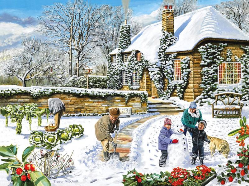 Пазл Собирать пазлы онлайн - В зимнем саду