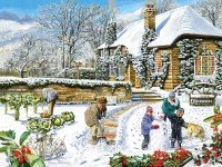 Собирать пазл В зимнем саду онлайн