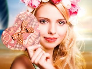 Собирать пазл Валентинка онлайн