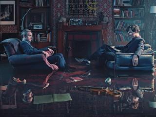 Собирать пазл Ватсон и Холмс онлайн