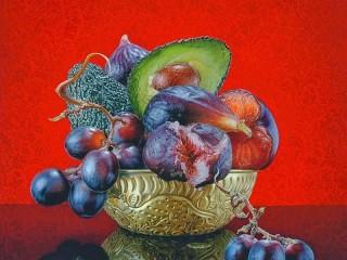 Собирать пазл Ваза с фруктами онлайн