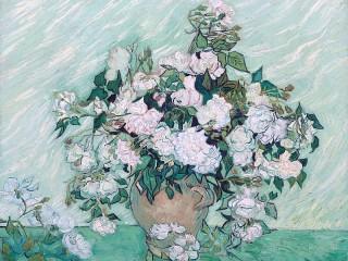 Собирать пазл Ваза с розами онлайн
