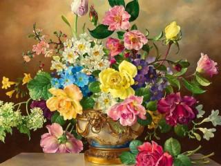 Собирать пазл Ваза с цветами онлайн