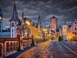 Собирать пазл Вечер в Бельгии онлайн